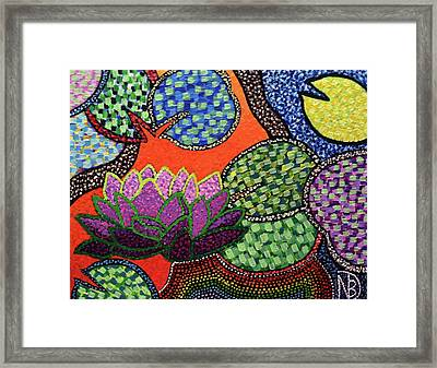 Lily Pad Pizzaz Framed Print