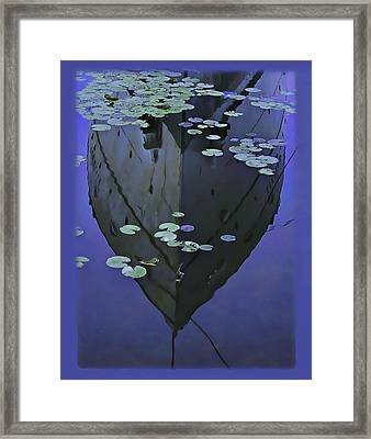 Lily Pads And Reflection Framed Print
