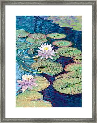 Lily Pads Framed Print by Valer Ian