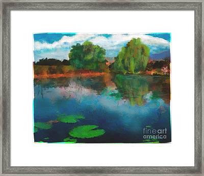 Lily Pond A La Torrie Framed Print