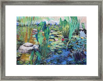 Framed Print featuring the painting Lily Pond by M Diane Bonaparte