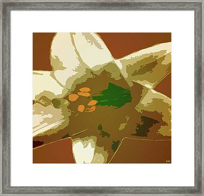 Lily Press Framed Print by Debra     Vatalaro