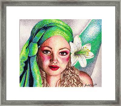 Lily Framed Print by Scarlett Royal
