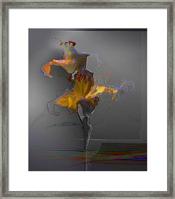 Framed Print featuring the photograph Lily Variation 09 by Richard Wiggins