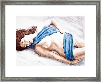 Lily-when Angels Sleep Framed Print by Joseph Ogle