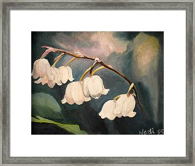 Lily Whites Framed Print