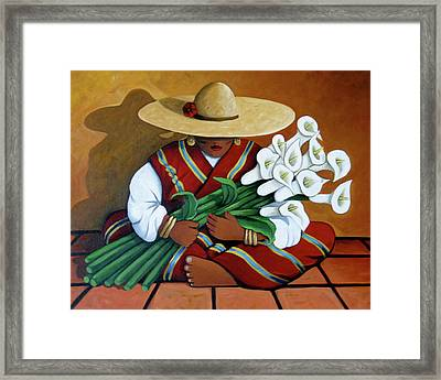 Lily Woman Framed Print
