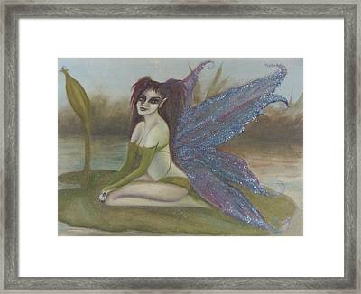 Lilypad Faerie Framed Print