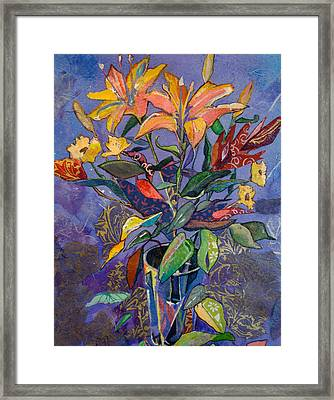 Lilyscape Framed Print by Marty Husted