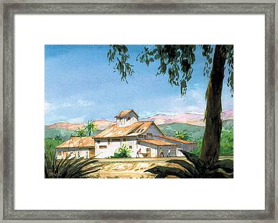 Lima Bean Plant Framed Print by Ray Cole