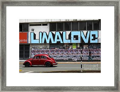 Lima Love Framed Print by James Brunker