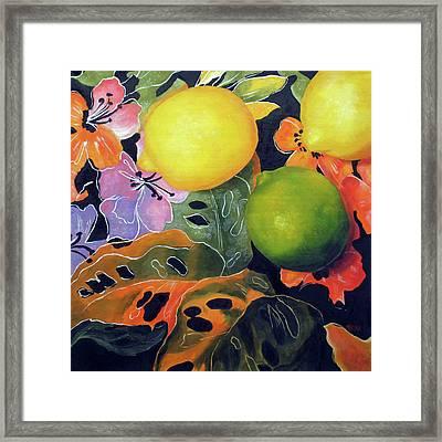 Lime And Lemons Framed Print by Marina Petro