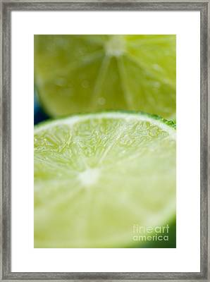 Lime Cut Framed Print by Ray Laskowitz - Printscapes