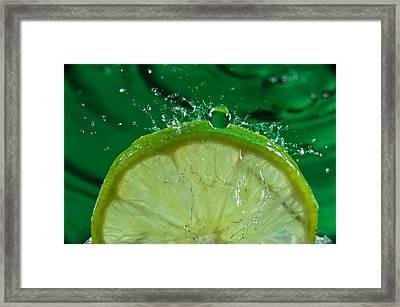 Lime Freshsplash Number 2 Framed Print