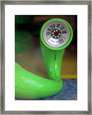 Lime Green Twisted Radio Framed Print by Matthew Bamberg