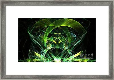 Lime Jewel Framed Print