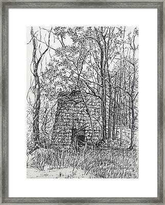 Lime Kiln, Erin, Tn Framed Print