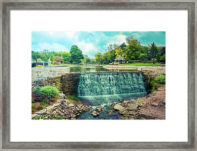 Lime Kiln Park Waterfall Framed Print