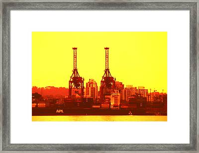 Lime Light On The Docks Framed Print by Paul W Sharpe Aka Wizard of Wonders