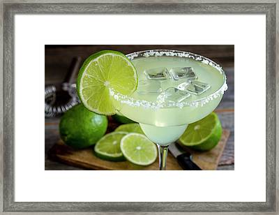 Framed Print featuring the photograph Lime Margarita Drink by Teri Virbickis