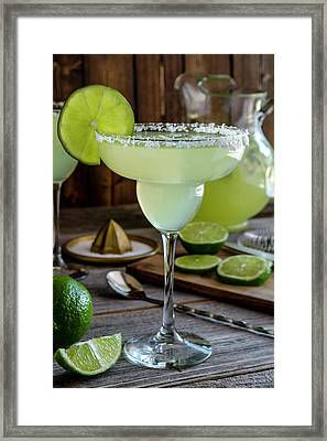 Framed Print featuring the photograph Lime Margaritas by Teri Virbickis