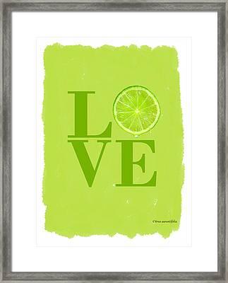 Lime Framed Print by Mark Rogan