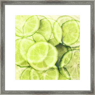Lime Slices Framed Print by Linde Townsend