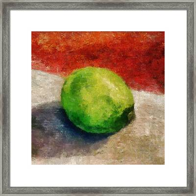 Lime Still Life Framed Print by Michelle Calkins