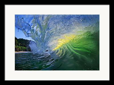 Glassy Water Framed Prints
