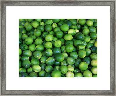 Framed Print featuring the photograph Limes by David Dunham