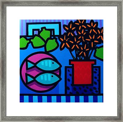 Limes Fish Flowers Framed Print by John  Nolan