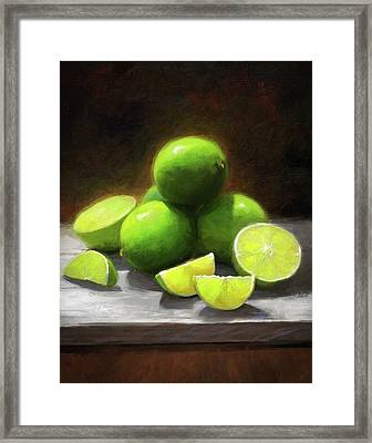 Limes In Sunlight Framed Print