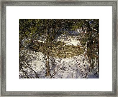 Limestone And Snow Framed Print by Richard Mitchell