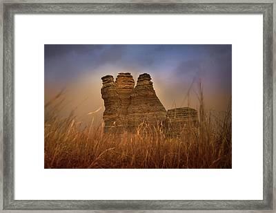 Limestone Dust Framed Print
