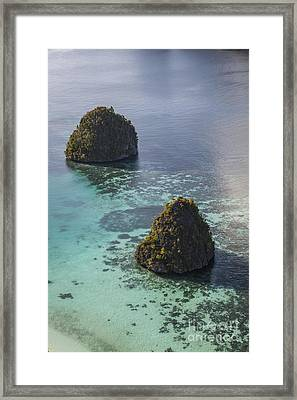 Limestone Islands Surrounded By A Coral Framed Print