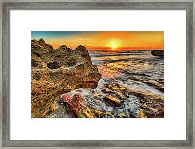 Limestone Sunrise Framed Print