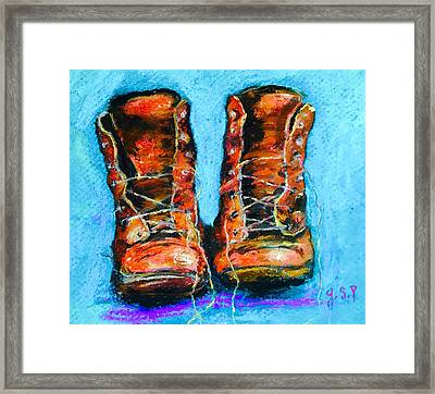 Limited Edition Wayward Shoe Laces Framed Print by Julia S Powell