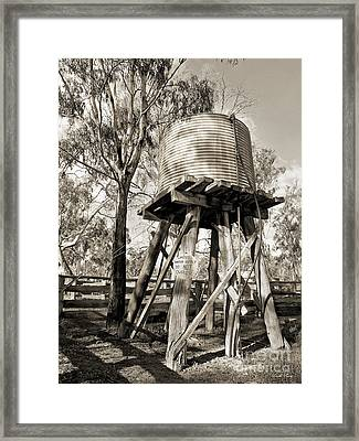 Framed Print featuring the photograph Limited Water Supply by Linda Lees