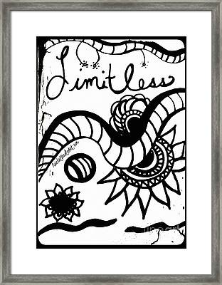Limitless Framed Print