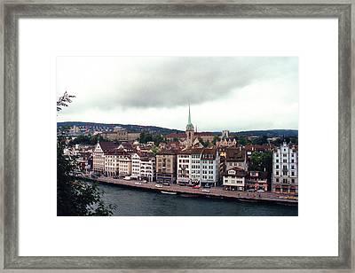 Limmatquai In Zurich Switzerland Framed Print