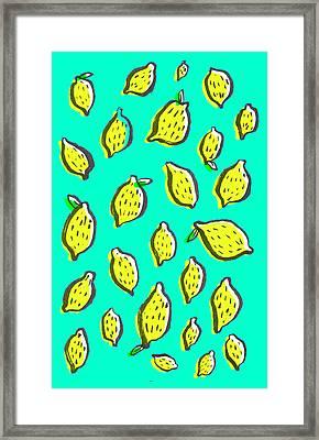 Limones De Primavera Framed Print