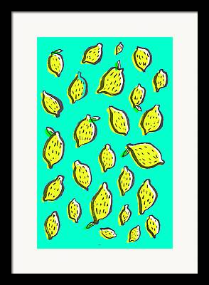 Lemons Drawings Framed Prints