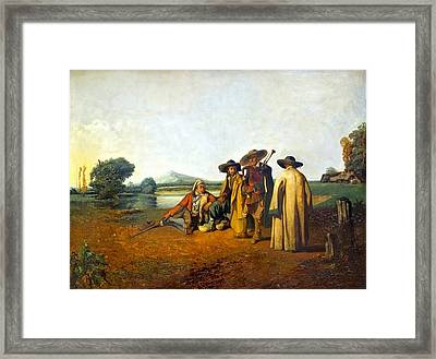Limousin Landscape Framed Print by MotionAge Designs