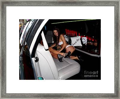Girls In The Limousine Framed Print by Timea Mazug