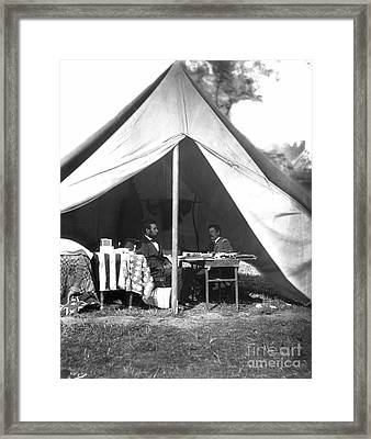 Lincoln & Mcclellan Framed Print by Granger