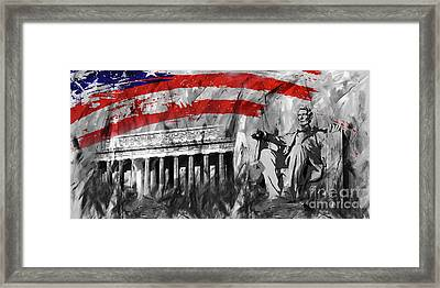 Framed Print featuring the painting Lincoln Abe by Gull G