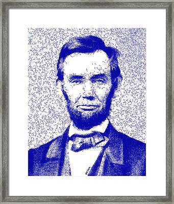 Lincoln Abstract Blue Framed Print