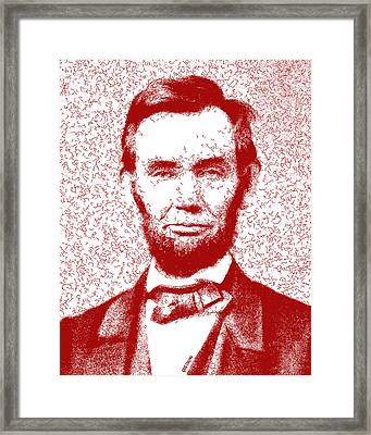 Lincoln Abstract Red Framed Print