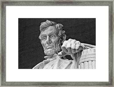 Lincoln And His Hand Framed Print by Andres Leon
