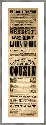 Lincoln Assassination Framed Print
